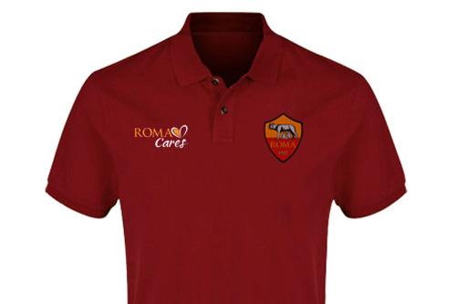 Polo AS Roma Maroon